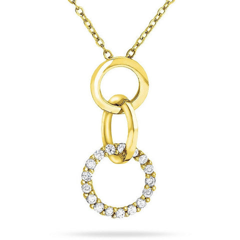 Beth 1.7ct CZ 14k Gold Classic Pendant Necklace