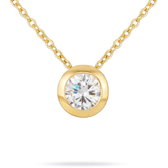 Kerry 1ct CZ 14k Gold Pendant Necklace