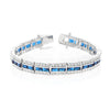Nora 51ct Sapphire CZ White Gold Rhodium Statement Tennis Bracelet
