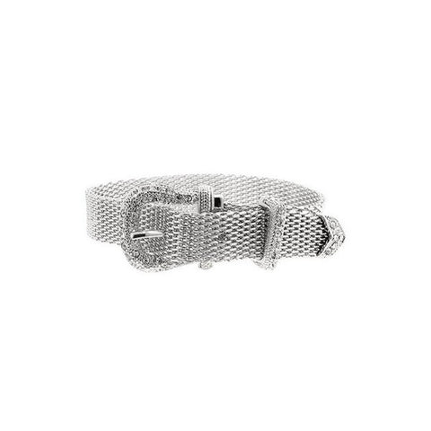 Mischa Crystal White Gold Rhodium Belt Bracelet