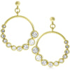 Hailey 2ct CZ 14k Gold Graduated Hoop Earrings