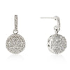 Bella 1ct CZ White Gold Rhodium Drop Earrings