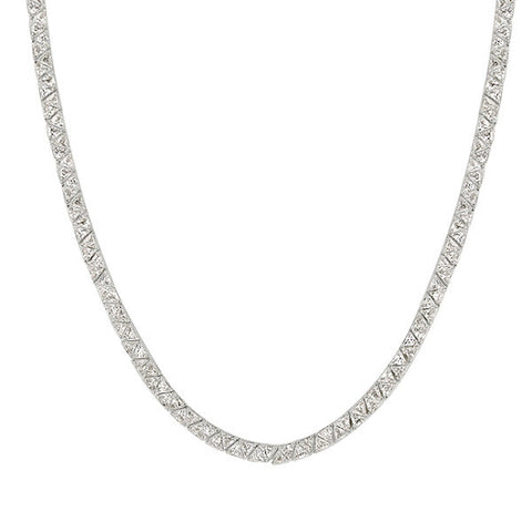 Jackie 36ct CZ Classic Trillion Cocktail Necklace
