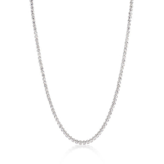 Lauren 24.5ct CZ White Gold Rhodium Elegant Necklace