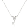 Alexia 0.3ct CZ White Gold Rhodium Y Initial Micro Pave Pendant Necklace