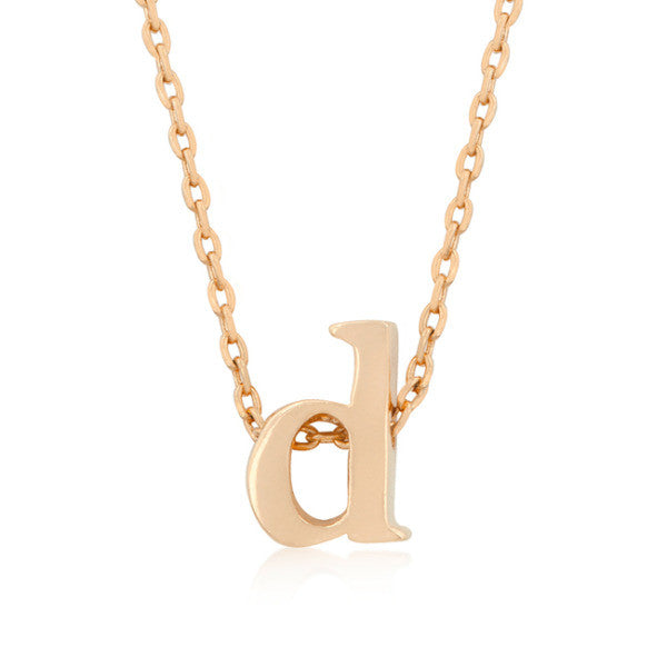Alexia Rose Gold Pendant D Initial Necklace