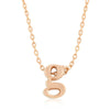 Alexia Rose Gold Pendant G Initial Necklace
