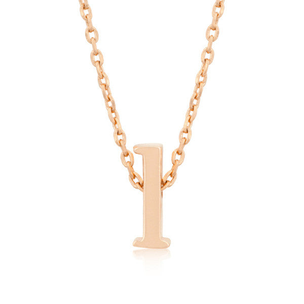 Alexia Rose Gold Pendant L Initial Necklace