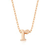 Alexia Rose Gold Pendant R Initial Necklace