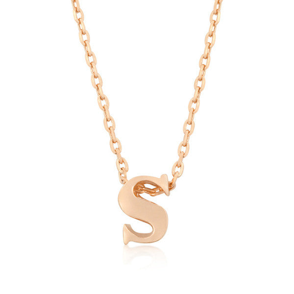 Alexia Rose Gold Pendant S Initial Necklace