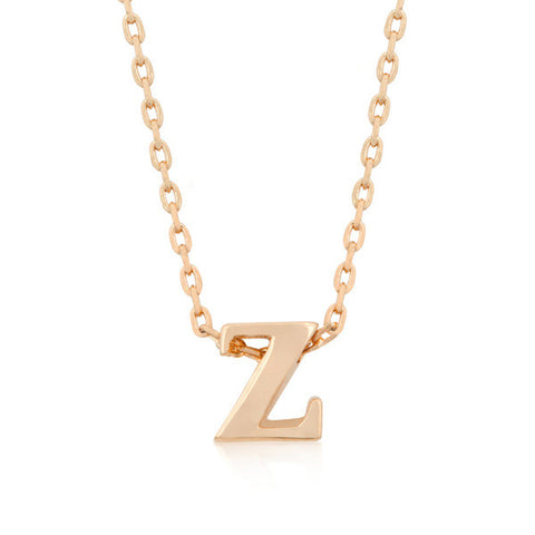 Alexia Rose Gold Pendant Z Initial Necklace