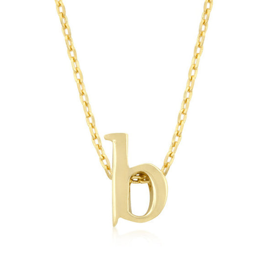 Alexia 14k Gold Pendant B Initial Necklace