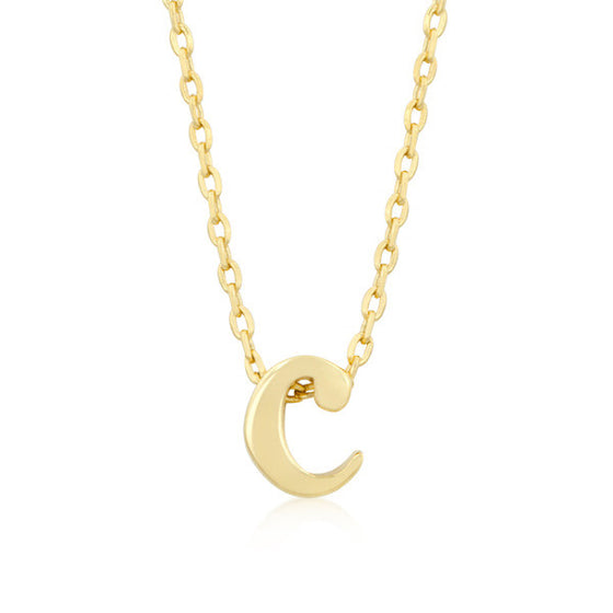 Alexia 14k Gold Pendant C Initial Necklace