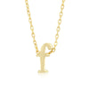 Alexia 14k Gold Pendant F Initial Necklace