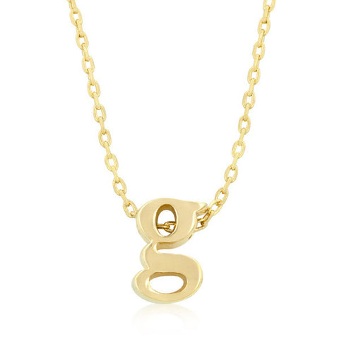 Alexia 14k Gold Pendant G Initial Necklace