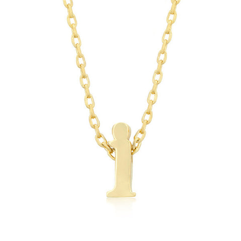 Alexia 14k Gold Pendant I Initial Necklace