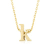 Alexia 14k Gold Pendant K Initial Necklace