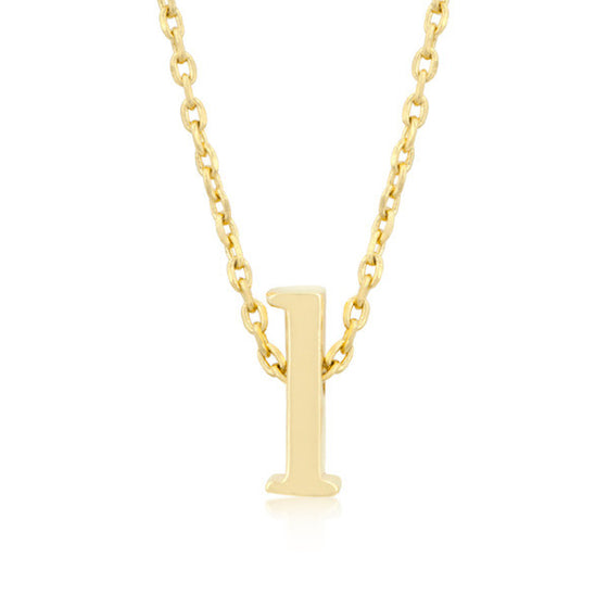 Alexia 14k Gold Pendant L Initial Necklace