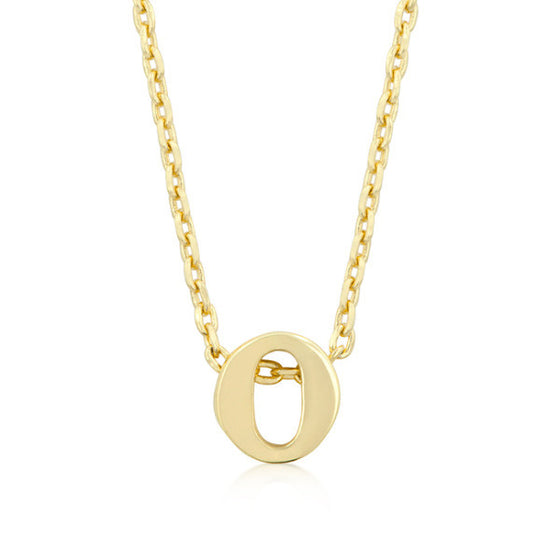 Alexia 14k Gold Pendant O Initial Necklace