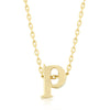 Alexia 14k Gold Pendant P Initial Necklace