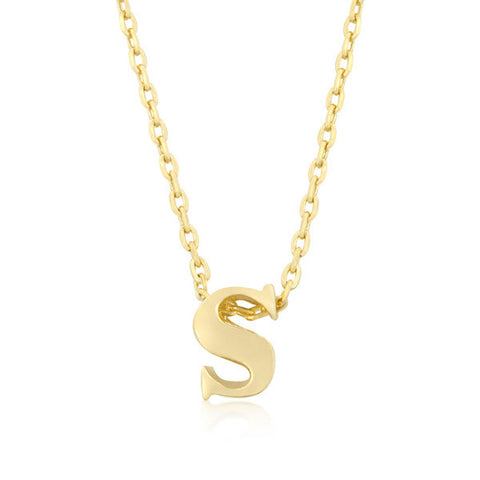 Alexia 14k Gold Pendant S Initial Necklace