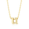 Alexia 14k Gold Pendant U Initial Necklace