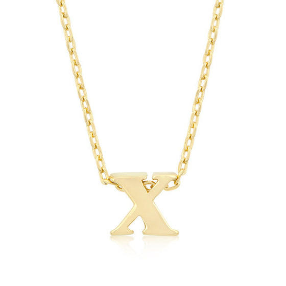 Alexia 14k Gold Pendant X Initial Necklace