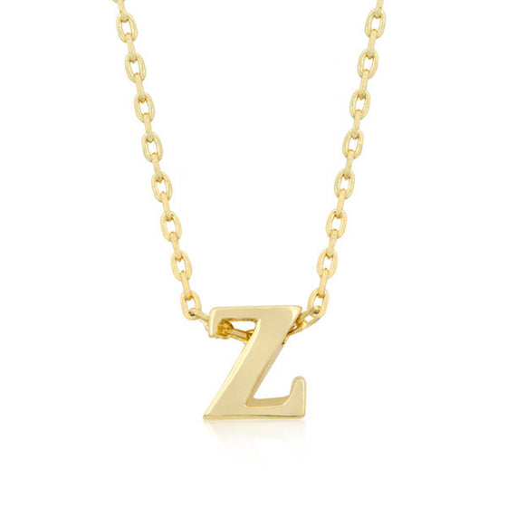 Alexia 14k Gold Pendant Z Initial Necklace