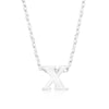 Alexia White Gold Rhodium Pendant X Initial Necklace