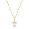 Goldtone Big Heart Pendant