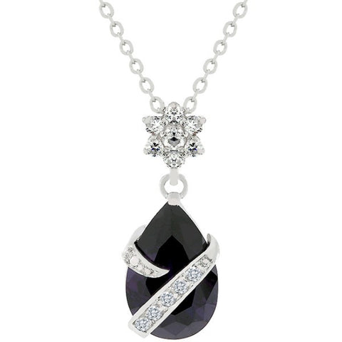 Wrapped Amethyst Cubic Zirconia Pendant