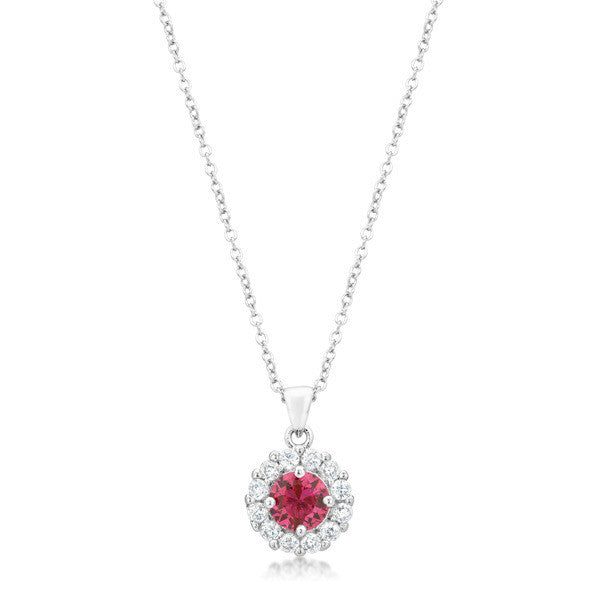 Bella Bridal Pendant in Pink