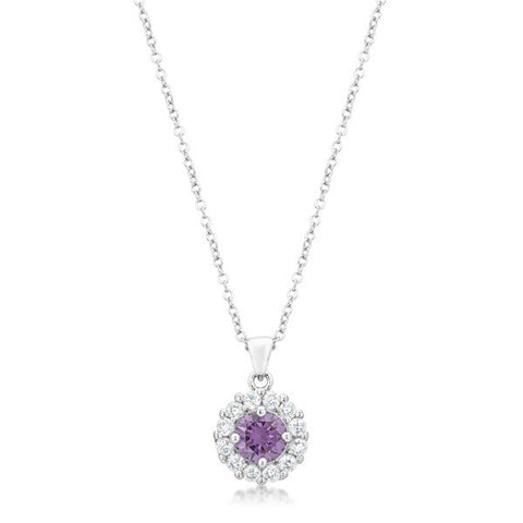Bella Bridal Pendant in Purple