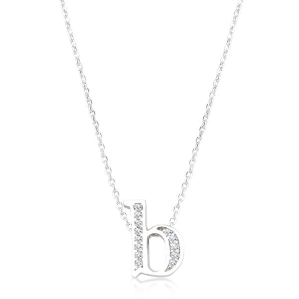 Pave Initial B Pendant