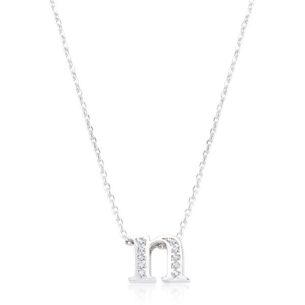Pave Initial N Pendant