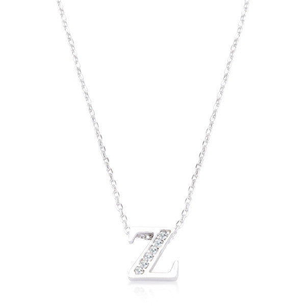 Pave Initial Z Pendant