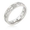 Stainless Steel Etched Eternity Band