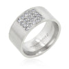 2ct CZ Stainless Steel Simple Pave Men's Ring