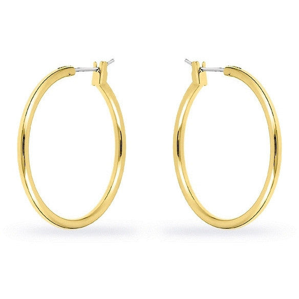Yasmin 14k Gold Medium Hoop Earrings