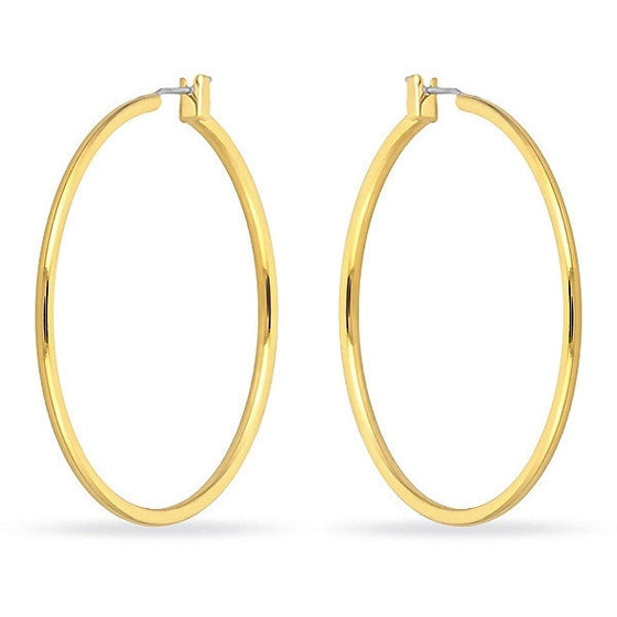 Yasmin 14k Gold Large Hoop Earrings
