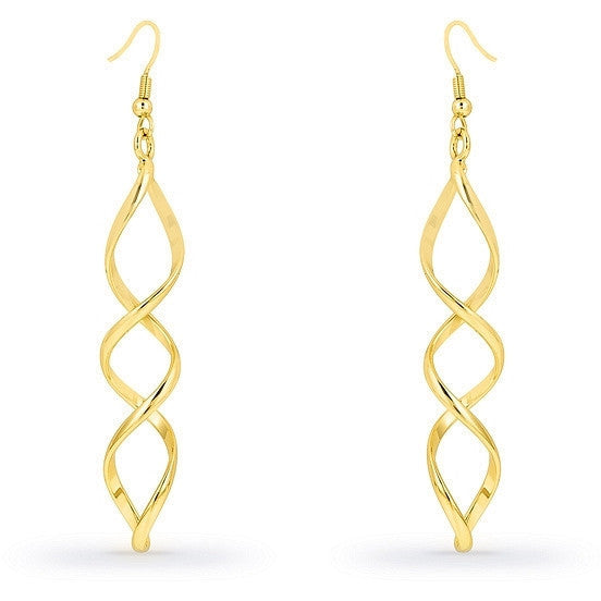 Calypso Illusion Gold Drop Earrings