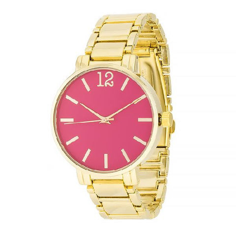 Brie Pink 14k Gold Metal Watch