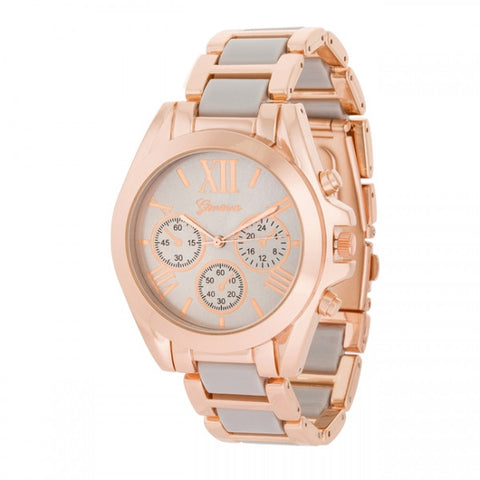 Cristina Rose Gold Gray Watch