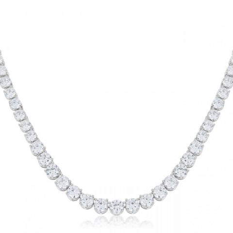 Elizabeth 46ct CZ Classic Cocktail Necklace