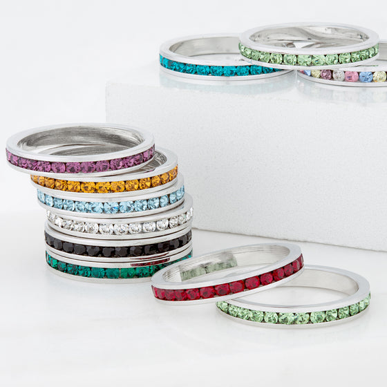 Swarovski Crystal Eternity Bands