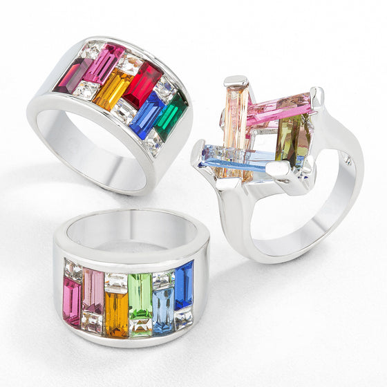 Multi Color Statement Rings