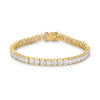 Princess Cut Cubic Zirconia Gold Tone Tennis Bracelet