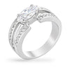 Mattie 0.8ct Clear CZ White Gold Rhodium Ring