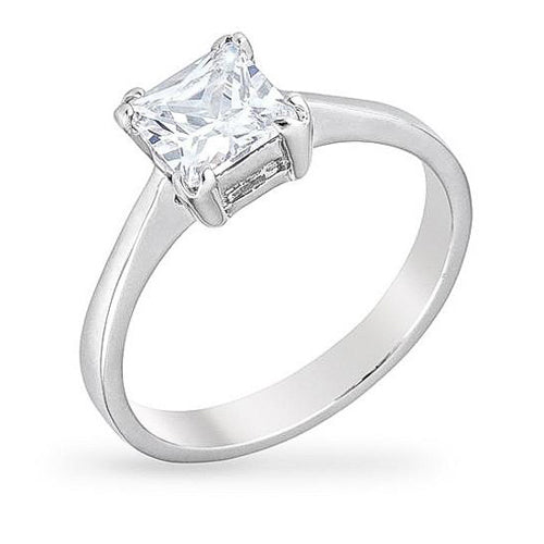 Trini 1.5ct CZ White Gold Rhodium Ring