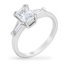 Duffy 1ct CZ White Gold Rhodium Simple Trio Ring